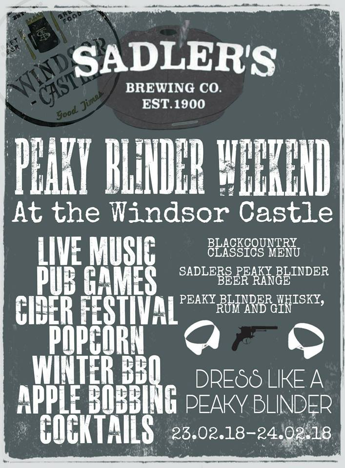 Peaky Blinder Weekend 16th-17th November