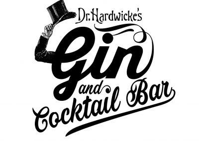 gin and cocktail bar logo