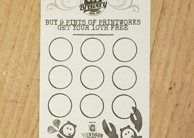 printworks brewery loyalty card