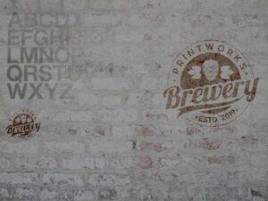 Printwork Brewery wall